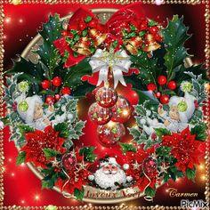 Animated Christmas Pictures, Animated Christmas Tree, Merry Christmas Gif, Christmas Scenes, Christmas Candles, Vintage Christmas Cards, Christmas Images, Christmas Art, Christmas Greetings