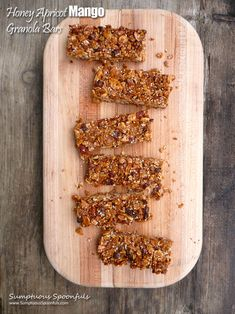 Honey Apricot Mango Granola Bars ~ not sure about adding the cereal Honey Crunch, Cinnamon Crunch, Cinnamon Almonds, Cinnamon Recipes, Breakfast Items, Breakfast Bake, Breakfast Recipes, My Recipes, Snack Recipes