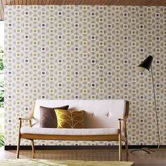 Style Library - The Premier Destination for Stylish and Quality British Design | Products | Multi Striped Petal Wallpaper (HORL110407) | Orla Kiely Wallpapers | By Harlequin