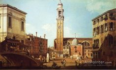 Giovanni Antonio Canal (called Canaletto),Camo Santi Apostoli oil painting reproductions for sale