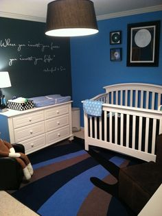 Rock Star Nursery- I love the Mumford quote on the wall, they always speak to my soul <3