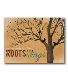 Look what I found on #zulily! 'Roots' Canvas Wall Art #zulilyfinds