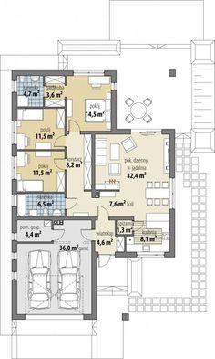 Bianka – Kate's imaginary house - Grundrisse Dream House Plans, Small House Plans, House Floor Plans, Apartment Floor Plans, Bedroom Floor Plans, Architect House, Architect Design, Bungalow House Design, House Blueprints