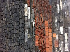Ningbo Museum  - The details of wall, it is made of old tiles and bamboo