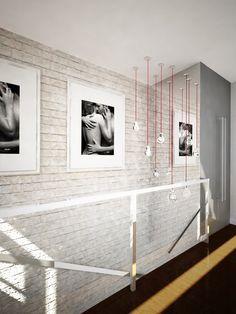 Pomysł na nowoczesne oświetlenie klatki schodowej Bathroom Lighting, Stairs, Lights, Mirror, House Ideas, Furniture, Google, Design, Home Decor