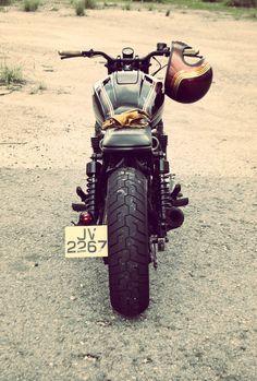 Honda CB750 back Fotor 740x1095 Honda CB750 by Wesley Hannam