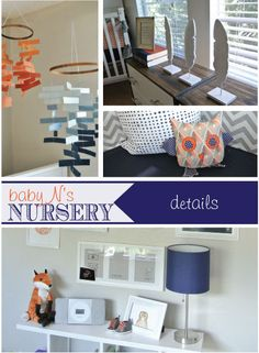 Rustic Eclectic Modern Nursery by Erica of Team Turnbow! Fabulous details and sweet personal touches that make this nursery gorgeous!