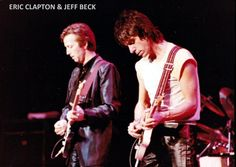 Эрик Клэптон и Джефф Бек в 1983 году