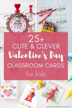 If you need some last-minute #Valentinecards for your child's classroom, check out these cute and clever ideas! All have free printables with lots of different options – non-candy, for boys, for girls, gender-neutral and more! #valentinesdayideas #kidsvalentinesdaycards #freeprintables