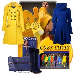 """Fashion splash fun with mega bright cozy coats"" by linda caricofe on Polyvore"