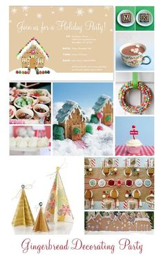 gingerbread house decorating party | Gingerbread Decorating Party