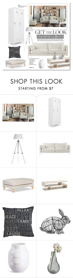 """""""Industrial Chic"""" by cruzeirodotejo ❤ liked on Polyvore featuring interior, interiors, interior design, home, home decor, interior decorating, Mellem, Dot & Bo, Home and industrial"""