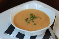Recipe: Tomato Bisque. This is awesome and I am not the biggest tomato fan. Now I want to invest in an immersion blender to make it even easier.