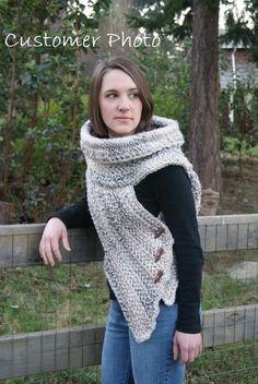 Huntress Shield Cowl Crochet PATTERN ONLY por CraftyGingerella