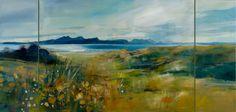 Wild Flowers, Summer, Ardnamurchan by SARAH CARRINGTON acrylic on canvas, 92cm x 184cm