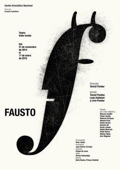 Temporada, Centro Dramatico Nacional (2014-2015) by Isidro FERRER (SPAIN, Huesca) - Fausto