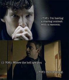 Somehow, this seems almost normal in Sherlock's world...