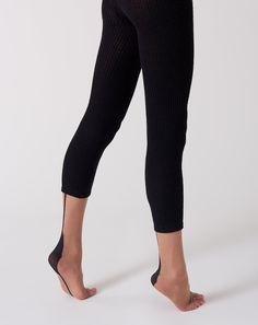 A Détacher Toeless Nylon Socks. Nylon knee socks with open toe and black stripe at back. Sock Leggings, Knee Socks, Black Stripes, Peru, Hosiery, Open Toe, Capri Pants, Spandex, Knitting
