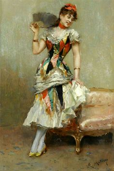 Aline With A Fan (Raimundo de Madrazo y Garreta)