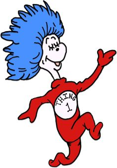 Dr Seuss Thing 1 And Thing 2 Coloring Sheets | Printable Coloring Pages