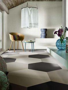 Trend Alert for 2015: Hexagon Decor Ideas for Small Spaces: The Inspiration: Hexagonal Floor Tiles