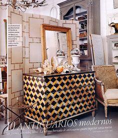 geometric painted furniture - Google Search