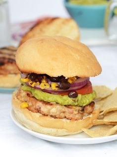 9 Layer Fiesta Chicken Burgers