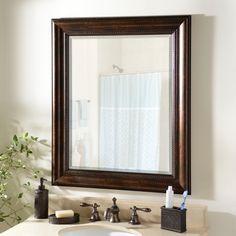 Beaded Bronze Framed Mirror, 29x35 in. | Kirklands