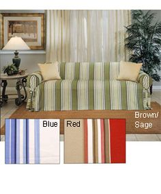 @Overstock - Give your loveseat a whole new look with the classic stripe slipcover.http://www.overstock.com/Home-Garden/Classic-Stripe-Slipcover-Sofa/655910/product.html?CID=214117 $70.99