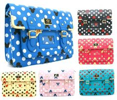 Satchel Bag Womens Mickey Mouse Polka Dot Messenger Shoulder Bag A68 New #SHUCRAZY #ShoulderBags