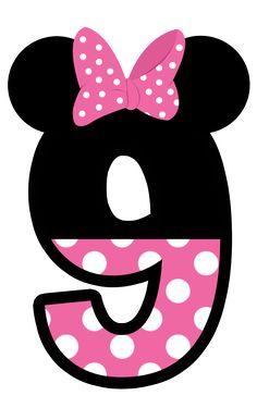 Numeros a lo Minnie en Rosa.