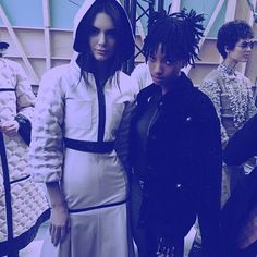 Pin for Later: We Couldn't Dream Up a Better Chanel Campaign Star Than Willow Smith She's Already Buddies With Karl's Fave Runway Models