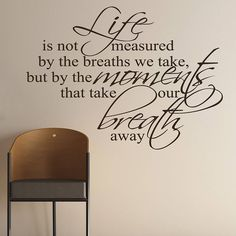 breaths that we take quote wall stickers by parkins interiors | notonthehighstreet.com