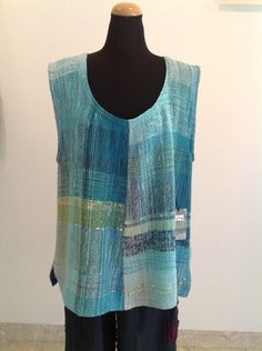 Hand woven vest - reminds me of one I saw in Vancouver