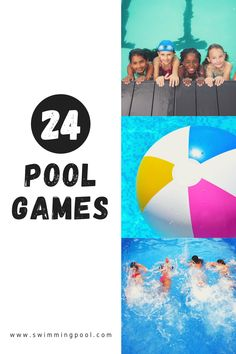 Try these 24 amazing pool games this summer! Swimming Pool Games, Pool Party Games, Cool Swimming Pools, Cool Pools, Easy Games For Kids, Simple Pool, Wet T Shirt, One Team, Rafting