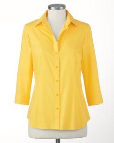 The 3/4 sleeve no-iron Perfect Shirt - [K16703]