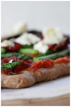 Asparagus, Sundried Tomato and Goat Cheese Pizza!