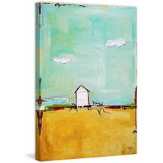 Marmont Hill Happiness Everyday by Tori Campisi Painting Print on Canvas, Size: 24 inch x 36 inch, Multicolor