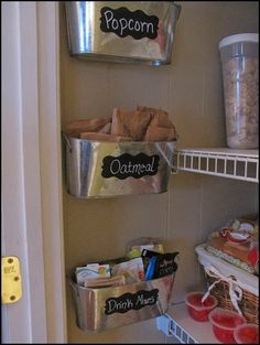 Storage for commonly used pantry items