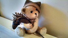Artist crochet alpaca wool teddy bear with by SweetHeartThreads