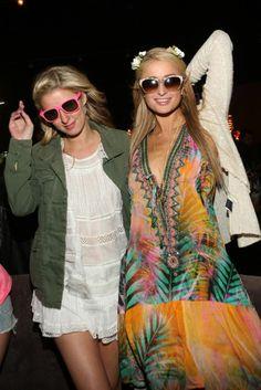 Paris & Nicki at Coachella Neon Carnival  Coachella 2014