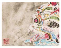 Lion Dance Illustration by dawnstarw Chinese Lion Dance, Chinese Element, Illustration Art, Art Illustrations, Chinese Culture, Chinese Painting, Lions, Art Reference, Oriental