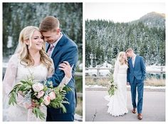 Snowy bridals in the mountains of Utah by wedding photographer Brooke Bakken