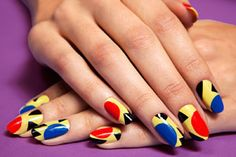 Pop art graphic nail art how-to by Madeline Poole for Teen Vogue