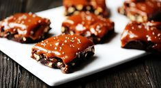 Salted Pretzel Caramel Brownies