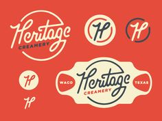 A few branding elements for a local creamery opening here in Waco.
