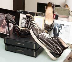DJ Kiss | The Coveteur - his and hers Loubs