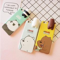 Details about We Bare Bears Grizzly Panda Phone Case Cover for IPhone - Elektronica En Mobiele Telefoons - Handytasche Cell Phone Covers, Cute Phone Cases, Iphone Cases, Smartphone Iphone, Friends Phone Case, Aesthetic Phone Case, Floral Iphone Case, Accessoires Iphone, Best Mobile Phone