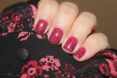 For this mani I used:  Base: Orly - Quite Contrary Berry  Stamping:  Barry M - Black  Cheeky Plate: 44