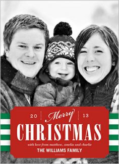 Merry Christmas Tag Christmas Card